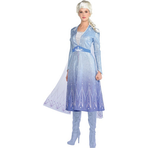 Adult Act 2 Elsa Costume with Wig - Frozen 2 Image #1