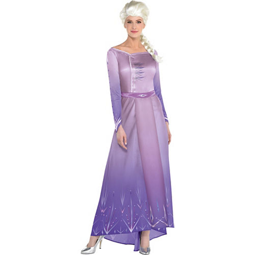 Adult Act 1 Elsa Costume with Wig - Frozen 2 Image #1