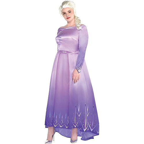 Adult Act 1 Elsa Costume Plus Size with Wig - Frozen 2 Image #1