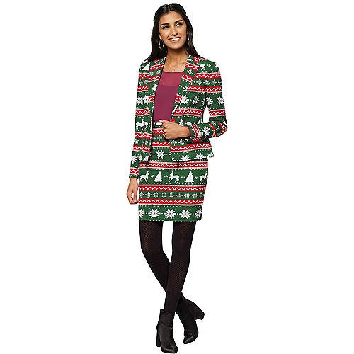 Adult Festive Girl Christmas Skirt Suit Image #1