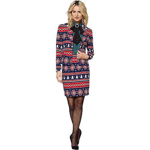 Adult Nordic Noelle Christmas Skirt Suit Image #1