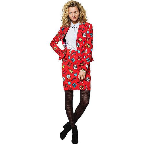 Adult Dashing Decorator Christmas Skirt Suit Image #1