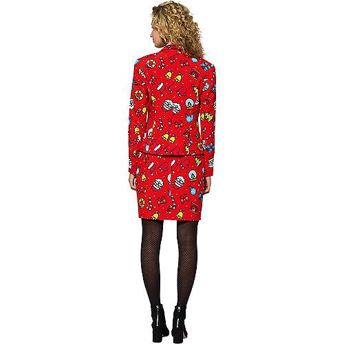 Adult Dashing Decorator Christmas Skirt Suit Image #2
