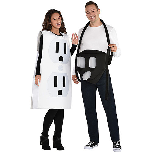 Adult Power Couple Couples Costumes Image #1
