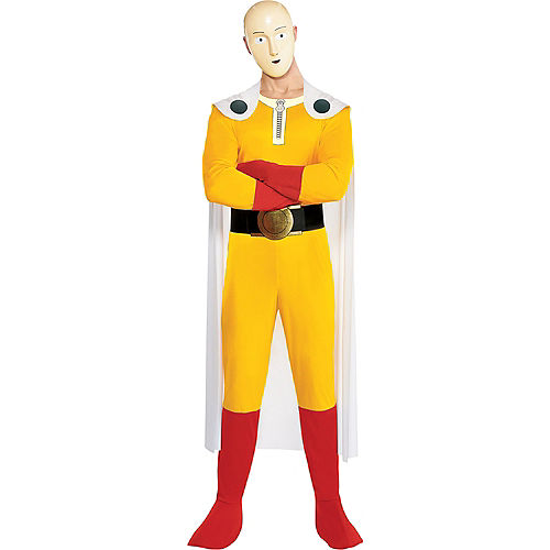 Adult One-Punch Man Costume Image #1