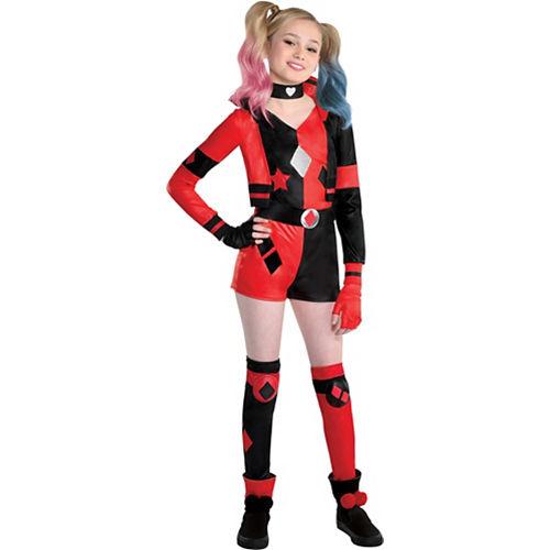 Kids' Harley Quinn Deluxe Costume - DC Comics Image #1