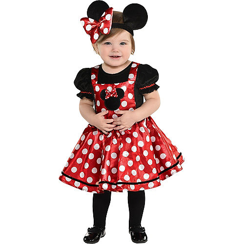 Child Red Polka Dot Minnie Mouse Costume - Disney Image #1