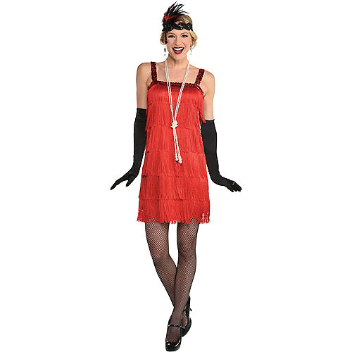 Adult Ruby Red Flapper Costume Image #1