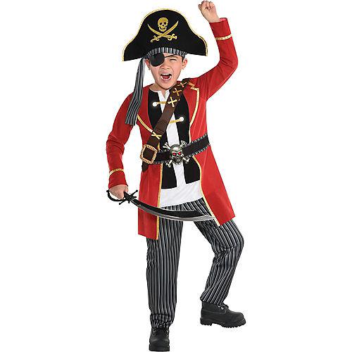 Child Light-Up Crypt Captain Pirate Costume Image #1