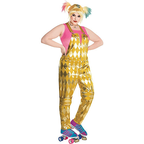 Adult Booby Trap Harley Quinn Costume Plus Size - Birds of Prey Image #1