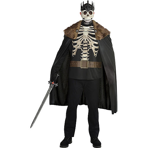 Adult Dark King Skeleton Costume Plus Size Image #1