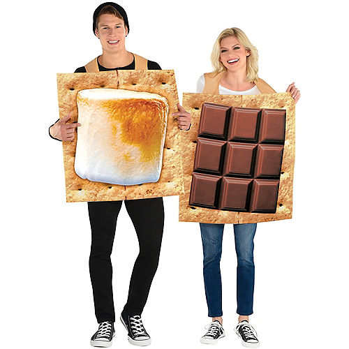 Adult S'mores Snack Couples Costumes Image #1