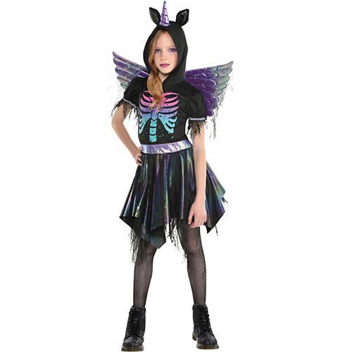 Child Zombie Rainbow Unicorn Costume Image #1