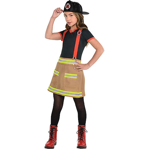 Child Wild Fire Firefighter Costume Image #1