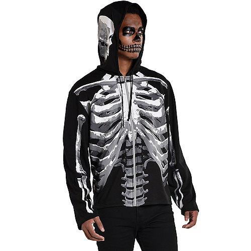 Adult Black & Bone Skeleton Hoodie Image #1