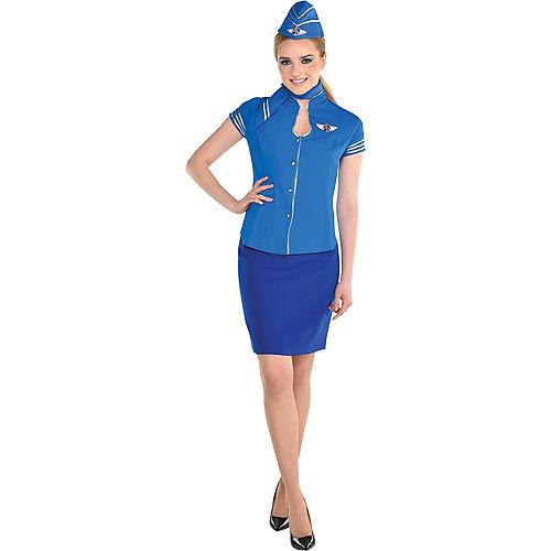 Adult Flight Attendant Costume Kit Image #1