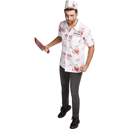 Adult Zombie Butcher Costume Accessory Kit Image #1