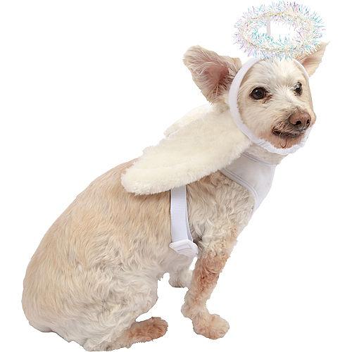 White Angel Wing Dog Harness Set Image #1