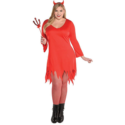 Adult Burnin' Up Devil Costume Plus Size Image #1