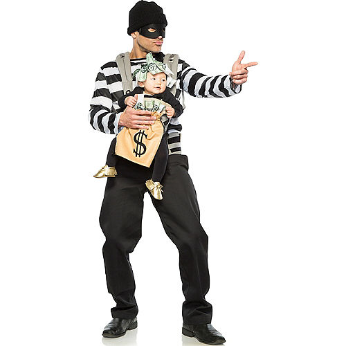 Robber & Moneybag Baby & Me Costume Image #1