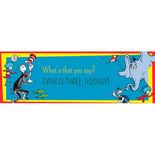 Custom Dr. Seuss Horizontal Banner Image #1