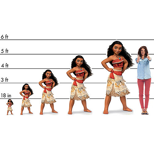 Disney Moana Life-Size Cardboard Cutout, 6ft Image #2