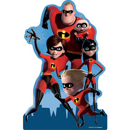 Incredibles 2 Centerpiece Cardboard Cutout, 18in Image #1