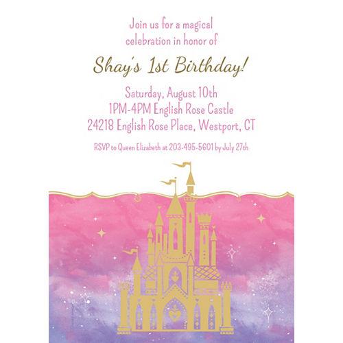 Custom Once Upon a Time Disney Princess 1st Birthday Invitations Image #1