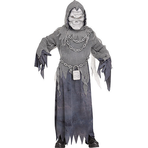 Child Chained Ghost Costume with Sound Effect Image #1
