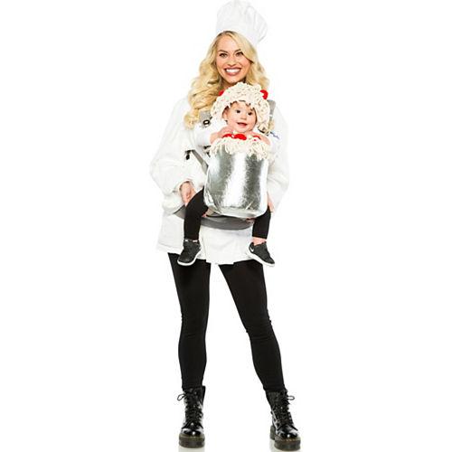 Chef & Spaghetti Baby & Me Costume Image #1