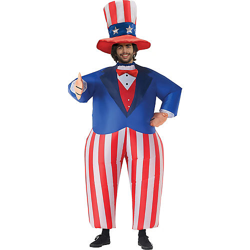 Adult Inflatable Uncle Sam Costume Image #1