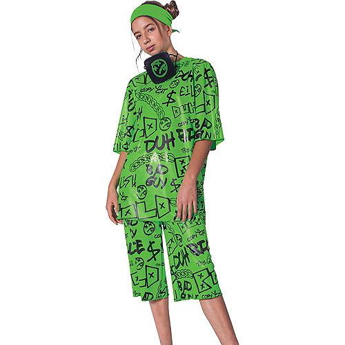 Child Green Billie Eilish Costume Image #1