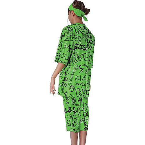 Child Green Billie Eilish Costume Image #2