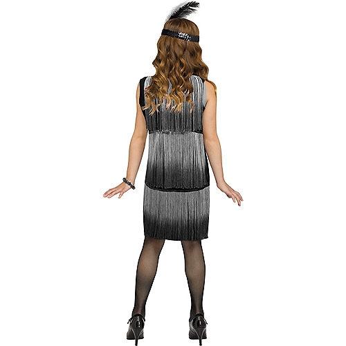 Child Black & White Flirty Flapper Costume Image #2
