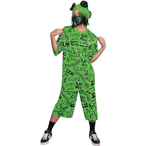 Adult Green Billie Eilish Costume Image #1