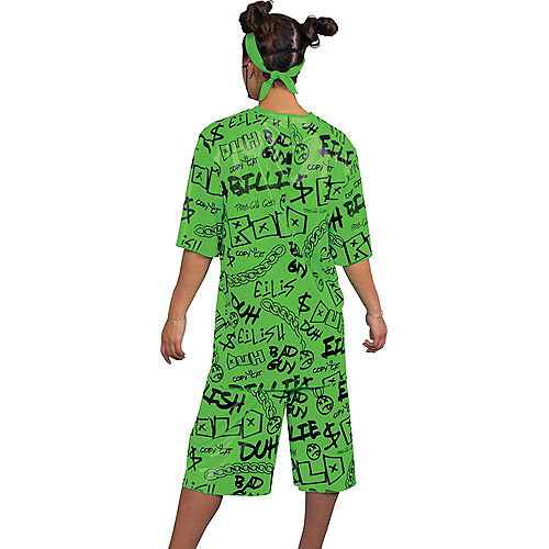 Adult Green Billie Eilish Costume Image #2