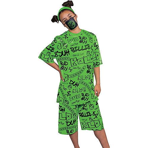 Adult Green Billie Eilish Costume Image #3