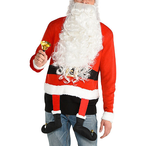 Santa's Legs Ugly Christmas Sweater for Adults Image #1