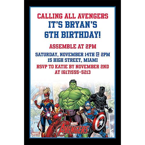 Custom Marvel Powers Unite Invitations Image #1