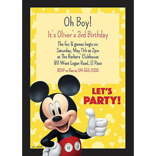 Custom Mickey Mouse Forever Invitations Image #1