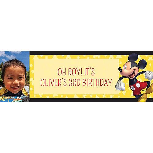 Custom Mickey Mouse Forever Photo Horizontal Banner Image #1