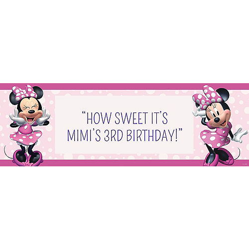 Custom Minnie Mouse Forever Horizontal Banner Image #1