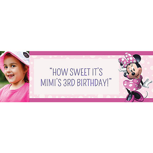 Custom Minnie Mouse Forever Photo Horizontal Banner Image #1