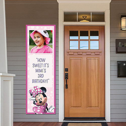 Custom Minnie Mouse Forever Photo Vertical Banner Image #1