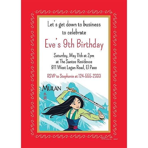 Custom Mulan Invitations Image #1