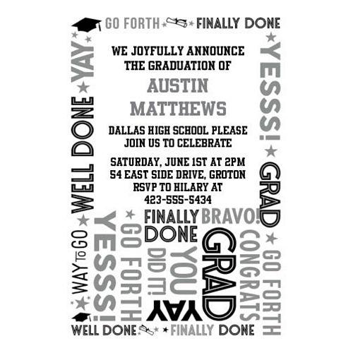Custom Grid Graduation Invitations Image #1