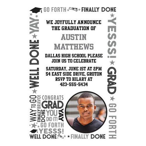 Custom Grid Graduation Photo Invitations Image #1