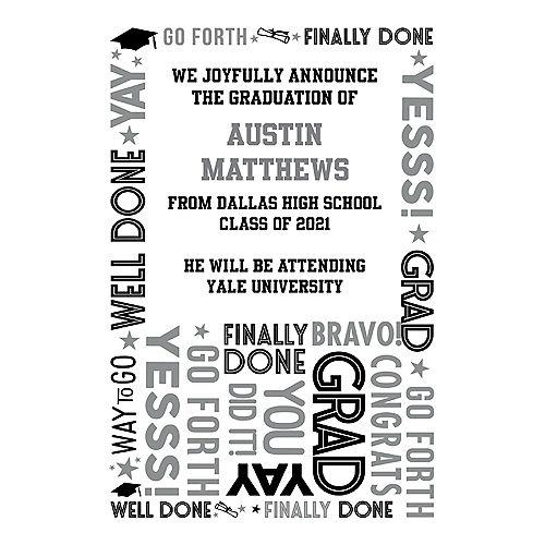 Custom Grid Graduation College Grad Announcements Image #1
