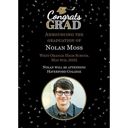 Custom Well Done Graduation College Grad Photo Announcements Image #1