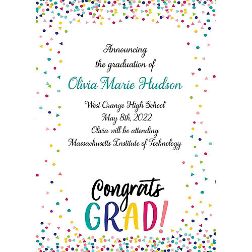 Custom Yay Grad College Grad Announcements Image #1